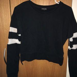 SUPER CUTE Express black crop sweater